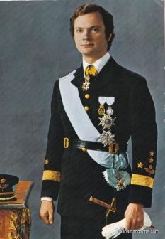 Tanarul Regele Carl XVI Gustaf al Suediei, 1973. Colectie Diana Mandache