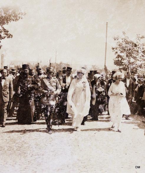 Sosirea la Chisinau a Regelui Ferdinand, Reginei Maria si a Principesei Elisabeta (ANR)