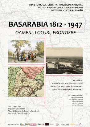 """Posterul expozitiei """"Basarabia: Oamnei, locuri, frontiere"""", vernisaj Bucuresti"""
